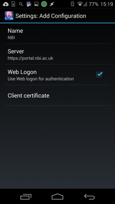 VPN - NBI AC UK